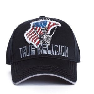 True Religion Men's Flag n Bones Cap